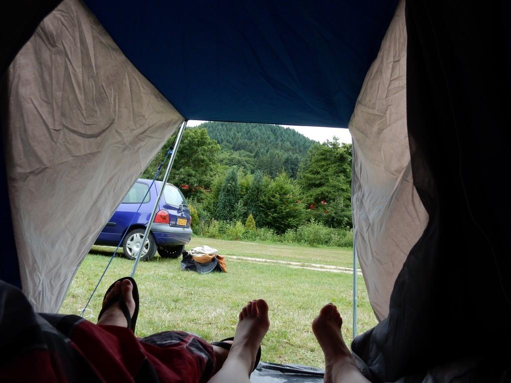 Blik uit de tent - Campinglife - Chezbo