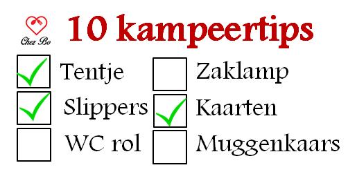10 Kampeertips - Chezbo
