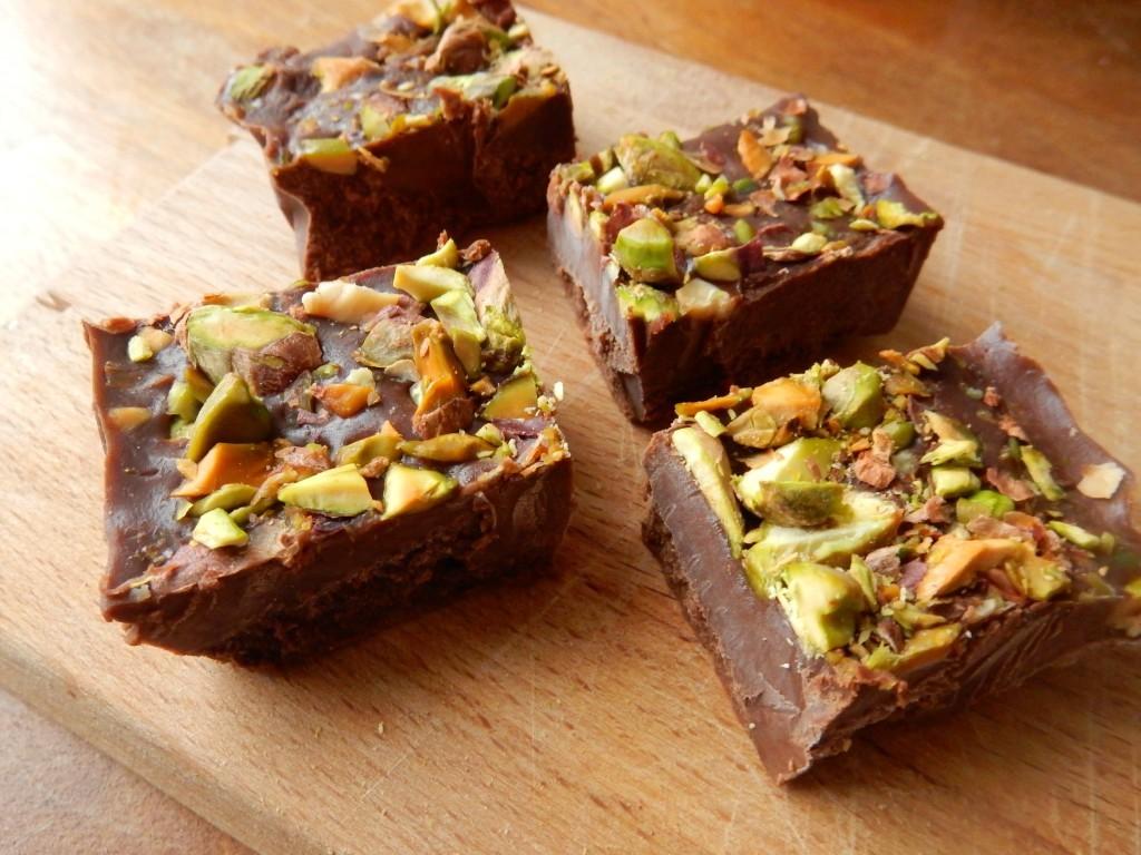 Chocolade fudge met pistache - Chez Bo