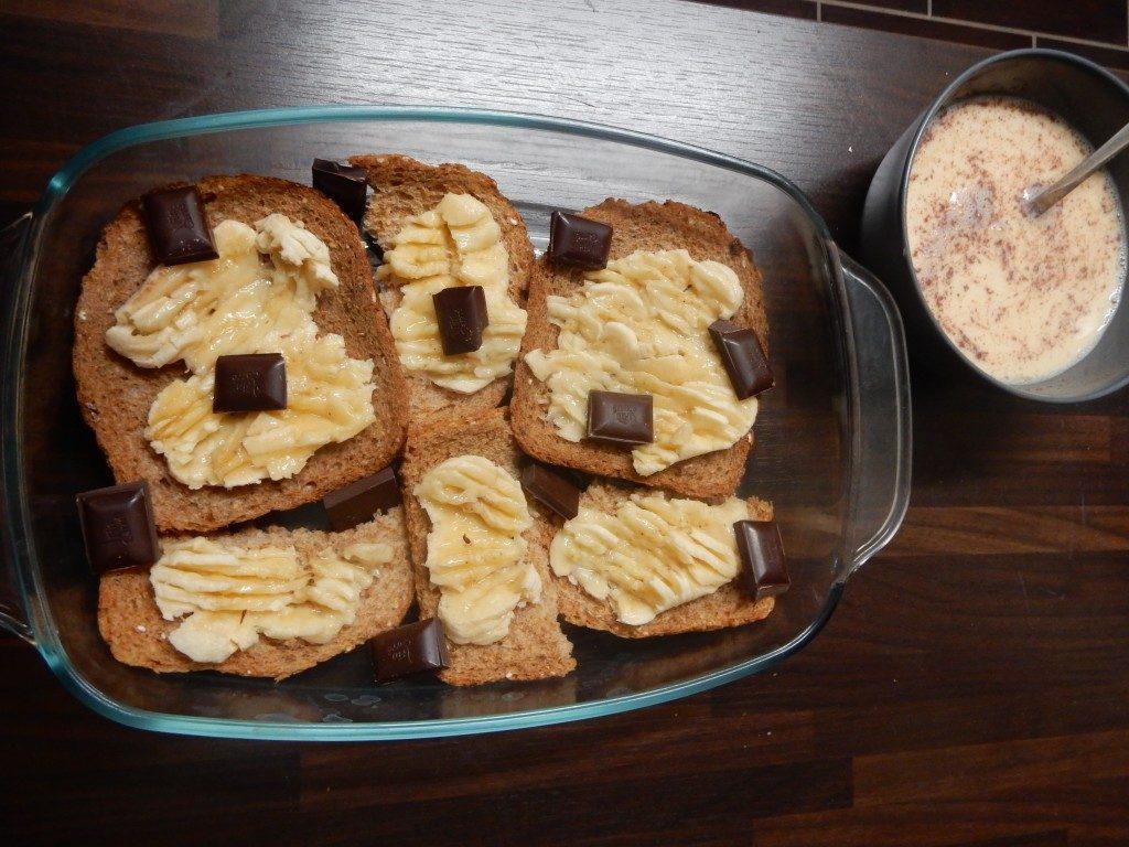 Broodpudding met banaan en pure chocolade - www.zo-ofzo.nl